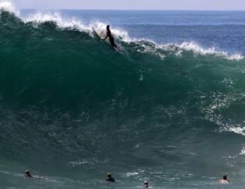 Фото. Серфингист на гребне волны