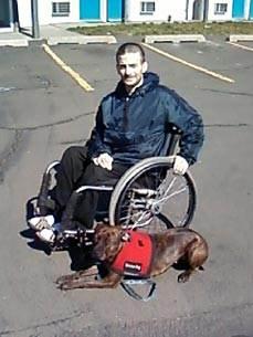 Собака вытащила хозяина из горервшего дома