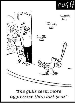 карикатура на чаек