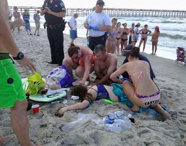 акула откусила руку подростку