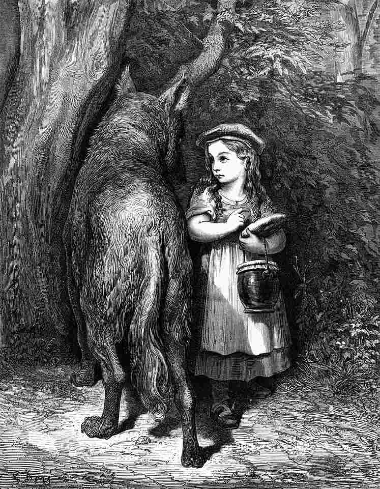 девока и волк
