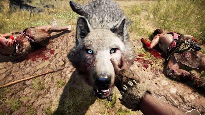 ручной волк в игре «Far Cry Primal»