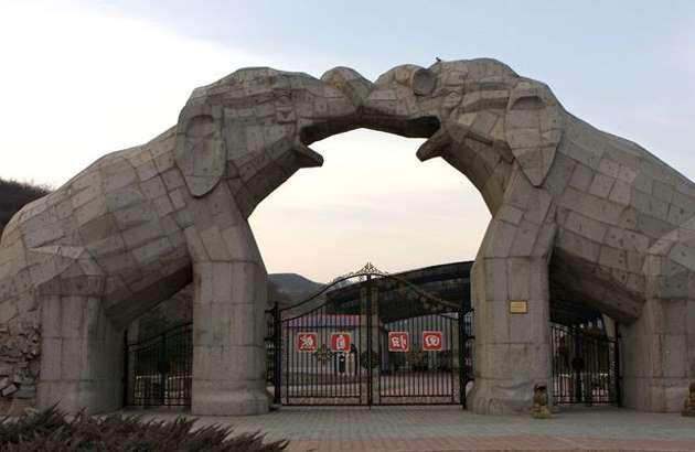 китайский парк с дикими животными