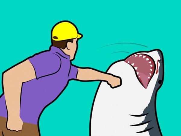 как справиться с акулой