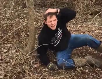 парень избитый оленем