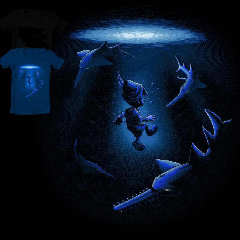 мальчик среди акул