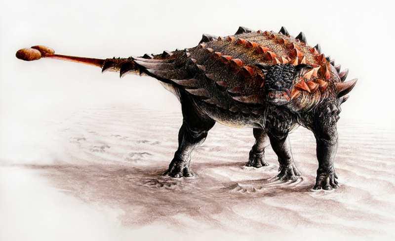 динозавр с палицей