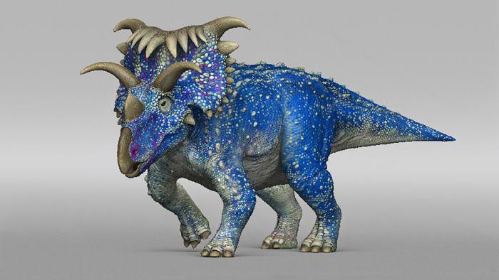 яркий динозавр