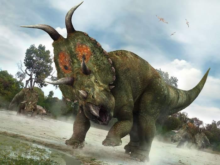 грозные рога у динозавра