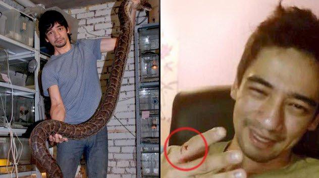 блогер умер от змеи