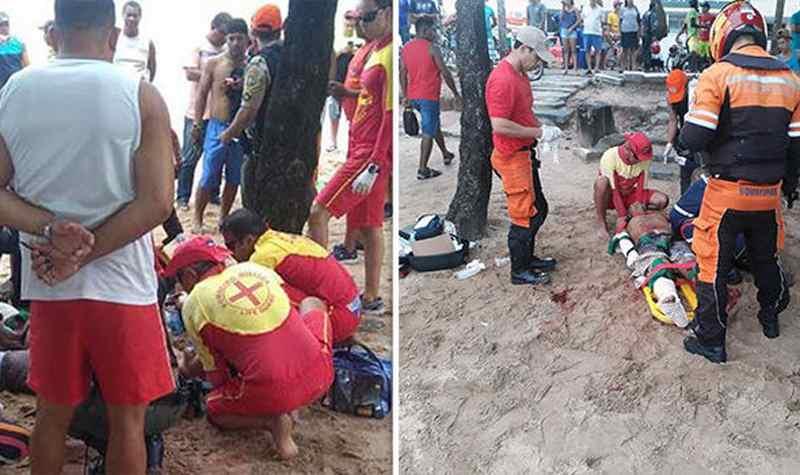 спасатели прибыли на мессто нападения акулы