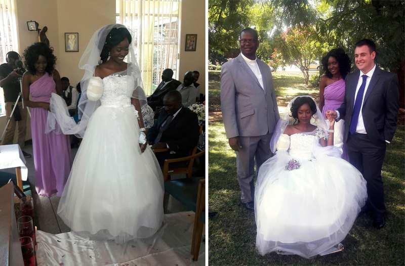 невеста с оторванной рукой крокодилом