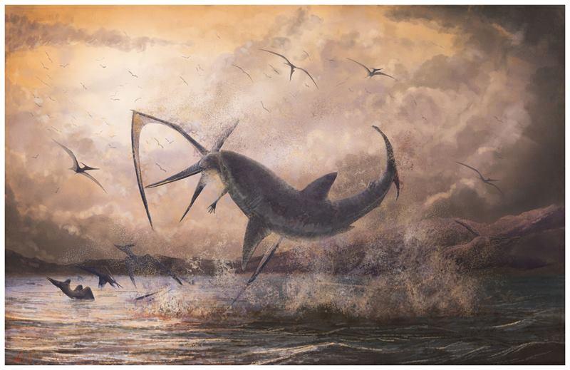 акула схватила птеранодона