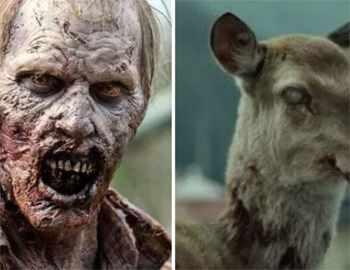 зомби и олень