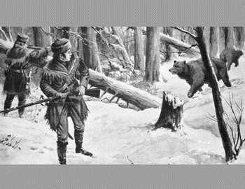 охотники стреляют по медведям